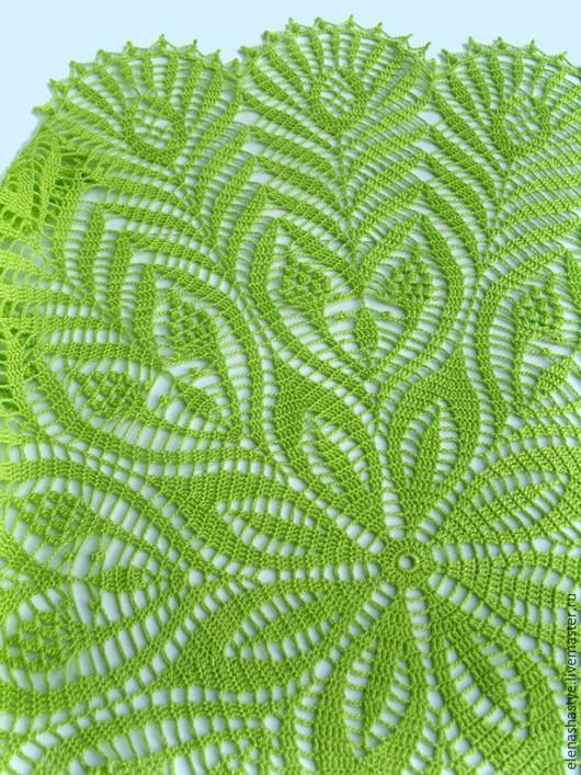 """Текстиль, ковры ручной работы. Ярмарка Мастеров - ручная работа. Купить """"Яблоневый чертополох"""" салфетка-скатерть ажурная вязаная крючком. Handmade."""