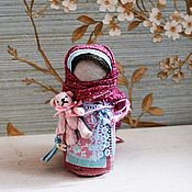 Куклы и игрушки handmade. Livemaster - original item Girl with Teddy bear. Handmade.