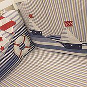 Комплекты одежды ручной работы. Ярмарка Мастеров - ручная работа Бортики в кроватку Морской стиль. Handmade.