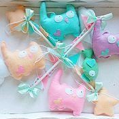 Куклы и игрушки handmade. Livemaster - original item The mobile in the crib - Seals. Handmade.