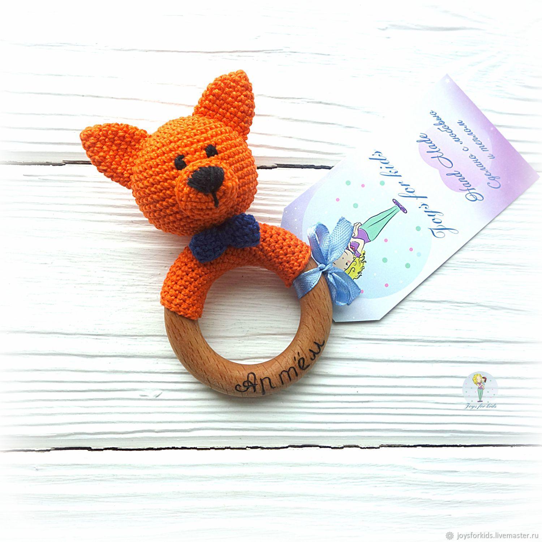 Teether ' Fox-rattle', Teethers rattles, Bryansk,  Фото №1