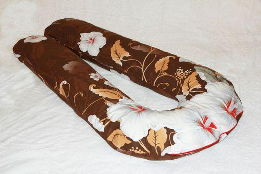 Текстиль, ковры ручной работы. Ярмарка Мастеров - ручная работа. Купить U-образная подушка для беременных. Handmade. Подушка, Беременность