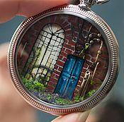 """Украшения ручной работы. Ярмарка Мастеров - ручная работа Подвеска """"Синие двери"""". Handmade."""