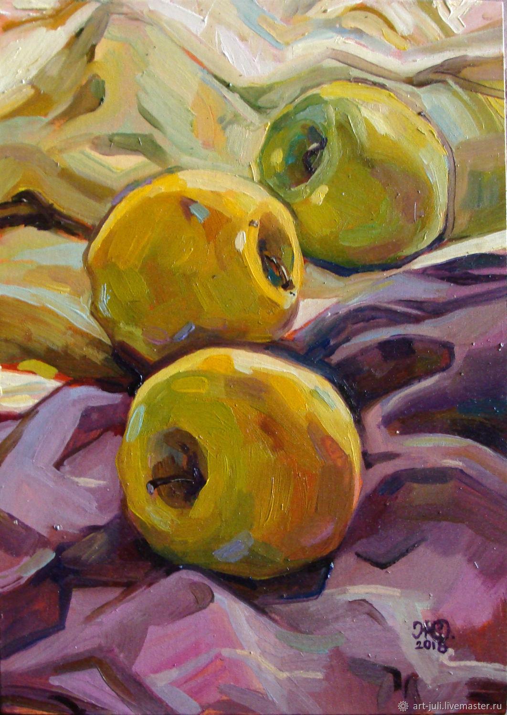 "Картина маслом ""три яблока"", Картины, Москва,  Фото №1"
