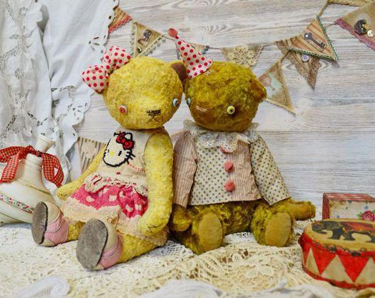 Мишки Тедди ручной работы. Ярмарка Мастеров - ручная работа. Купить Авторский повтор работы мишка тедди Миа. Handmade.