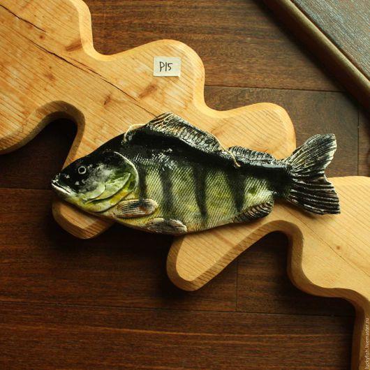 Животные ручной работы. Ярмарка Мастеров - ручная работа. Купить Окунь (р15). Handmade. Комбинированный, рыбка, подарок, Керамика, глазурь
