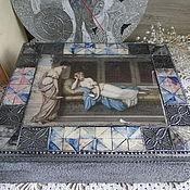 """Для дома и интерьера ручной работы. Ярмарка Мастеров - ручная работа Шкатулка """"Греческие дамы"""". Handmade."""