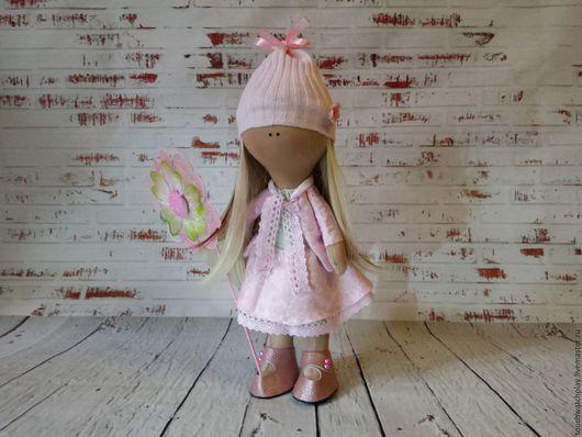 Человечки ручной работы. Ярмарка Мастеров - ручная работа. Купить Цветочная девочка. Handmade. Розовый, Снежка, кожа