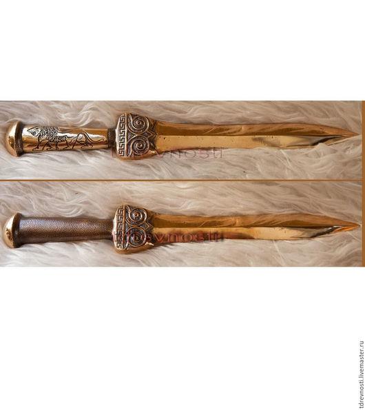 Оружие ручной работы. Ярмарка Мастеров - ручная работа. Купить Микенский бронзовый  меч.Кинжал. Handmade. Бронза, меч, греция