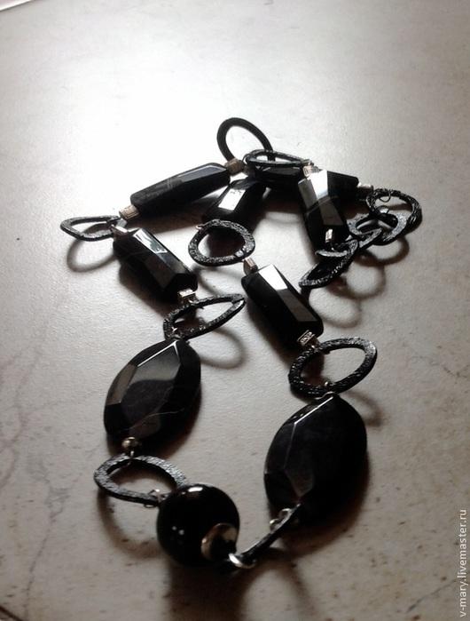 """Колье, бусы ручной работы. Ярмарка Мастеров - ручная работа. Купить Колье """"Черный принц-1"""". Handmade. Черный"""