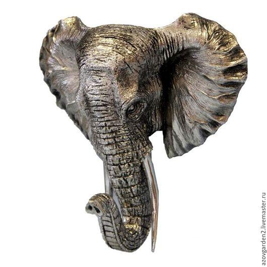 Декупаж и роспись ручной работы. Ярмарка Мастеров - ручная работа. Купить Настенная голова слона. Handmade. Прованс, винтаж, для фотосессий