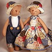Куклы и игрушки ручной работы. Ярмарка Мастеров - ручная работа Тильда Кот и кошка в стиле кантри. Handmade.