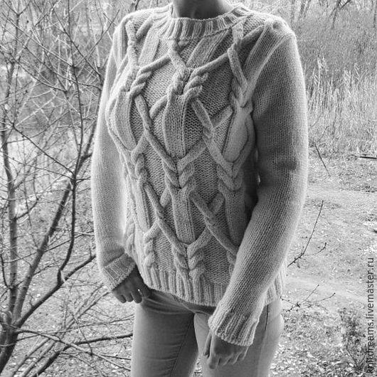 """Кофты и свитера ручной работы. Ярмарка Мастеров - ручная работа. Купить Свитер """"Domiani"""". Handmade. Серый, стильный свитер"""