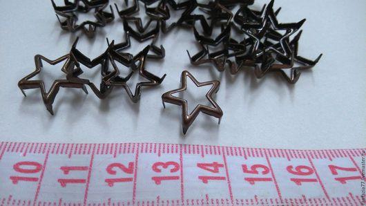 Шитье ручной работы. Ярмарка Мастеров - ручная работа. Купить украшение на шипах звезда цвет медь 1,5 см. Handmade.