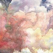 Картины и панно ручной работы. Ярмарка Мастеров - ручная работа Акварель Облака.. Handmade.