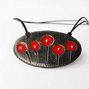 Украшения handmade. Livemaster - original item Pendant from polymer clay poppy flowers. Handmade.