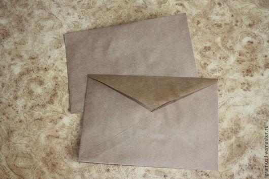 Упаковка ручной работы. Ярмарка Мастеров - ручная работа. Купить Крафт конверты с треугольным клапаном. Handmade. Коричневый, крафт