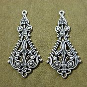 Материалы для творчества handmade. Livemaster - original item Accessories USA, filigree pendants brass oxidized silver 12mk. Handmade.