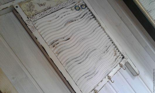 Ванная комната ручной работы. Ярмарка Мастеров - ручная работа. Купить Вешалка Ретро стирка. Handmade. Белый, доска стиральная