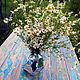 Светящийся стол для дачи из лиственницы. Стол на заказ
