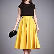 Одежда ручной работы. Ярмарка Мастеров - ручная работа Желтая юбка солнце из шерсти на сень Джехэйн. Handmade.