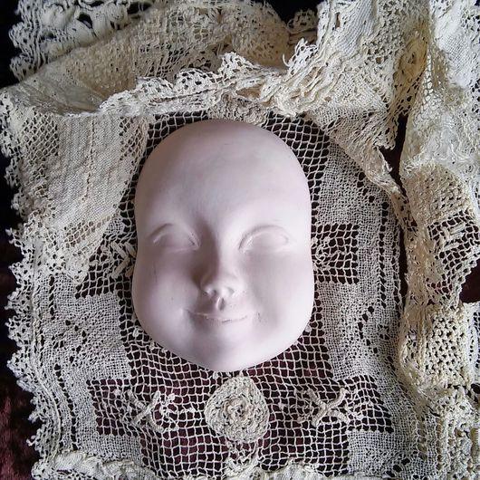 Куклы и игрушки ручной работы. Ярмарка Мастеров - ручная работа. Купить Фарфоровое личико для тедди-долл. Handmade. Белый