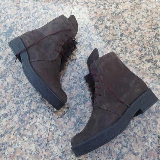 Обувь ручной работы. Ярмарка Мастеров - ручная работа. Купить Женские ботинки в стиле гранж Anna Chaqrua. Handmade. Коричневый