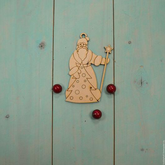 Декупаж и роспись ручной работы. Ярмарка Мастеров - ручная работа. Купить Дед Мороз, ёлочная игрушка. Handmade. Бежевый