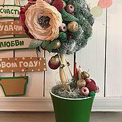 Подарки к праздникам ручной работы. Ярмарка Мастеров - ручная работа Новогодний топиарий «Волшебство». Handmade.