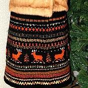 """Одежда ручной работы. Ярмарка Мастеров - ручная работа Юбка """"северные олени"""" расклешенная зимняя. Handmade."""