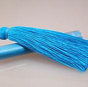Материалы для творчества ручной работы. Ярмарка Мастеров - ручная работа Кисточки для серег - яркий голубой. Handmade.