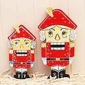 Куклы и игрушки ручной работы. Ярмарка Мастеров - ручная работа Щелкунчик- ёлочная игрушка. Handmade.