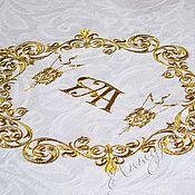 Скатерти ручной работы. Ярмарка Мастеров - ручная работа Свадебная скатерть с вышивкой Антиквар 5015. Handmade.