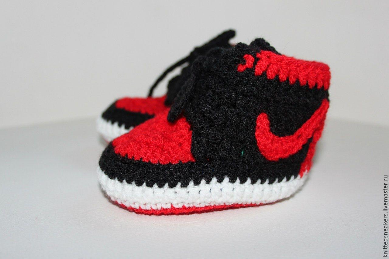 faea76ff Детская обувь ручной работы. Ярмарка Мастеров - ручная работа. Купить  Пинетки кроссовки кеды Nike ...