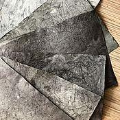 """Канцелярские товары ручной работы. Ярмарка Мастеров - ручная работа """"Черный принц"""" черная батик  бумага. Handmade."""