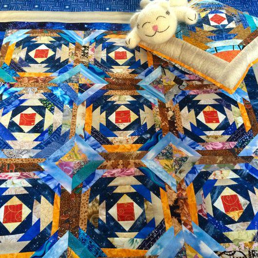 Пледы и одеяла ручной работы. Ярмарка Мастеров - ручная работа. Купить Детский лоскутный плед Край полуночного   солнца. Handmade.