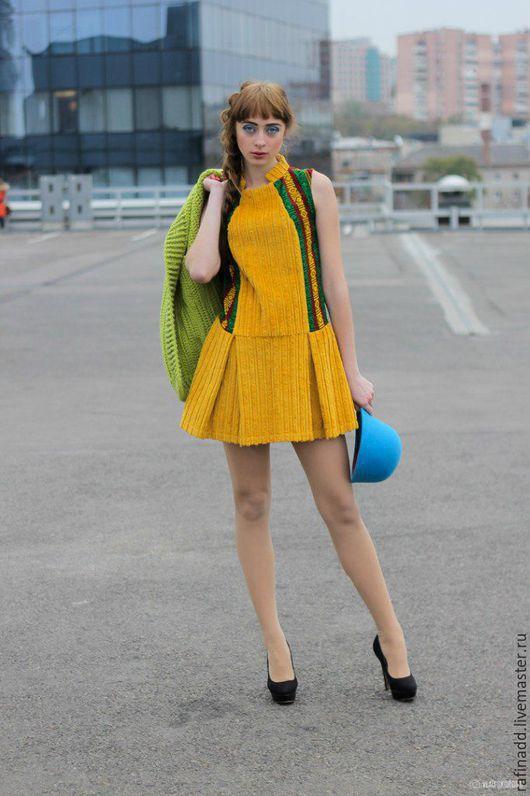 """Платья ручной работы. Ярмарка Мастеров - ручная работа. Купить Платье-сарафан """"Вельвет"""". Handmade. Разноцветный, хлопок 100%, вельвет"""