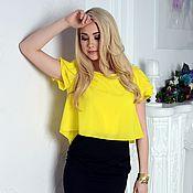 Одежда handmade. Livemaster - original item blouse elegant, blouse yellow. Handmade.