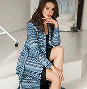 Одежда handmade. Livemaster - original item Cardigan Mexico (blue). Handmade.