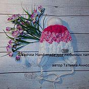Работы для детей, ручной работы. Ярмарка Мастеров - ручная работа Шапочка с помпоном Кролик. Handmade.