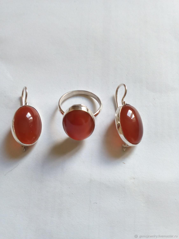 Jewelry set: CARNELIAN925 silver, Jewelry Sets, Ekaterinburg,  Фото №1