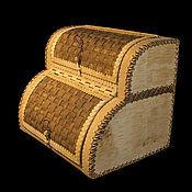The bins handmade. Livemaster - original item Bread bin double deck/bunk of birch bark. For bread storage. Handmade.