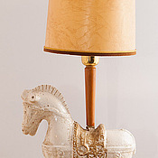 Винтаж ручной работы. Ярмарка Мастеров - ручная работа Настольная лампа конь античный белый единорог далеких лет. Handmade.