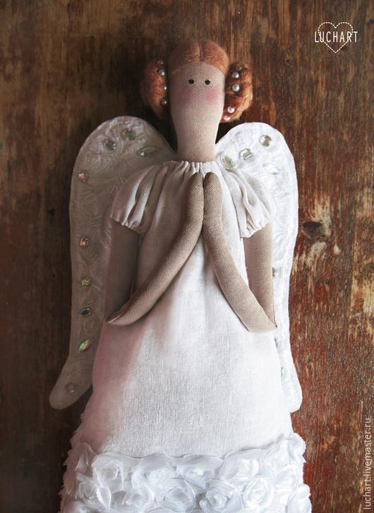 Куклы Тильды ручной работы. Ярмарка Мастеров - ручная работа. Купить ангел-хранитель. Handmade. Белый, изысканная тильда, гипюр