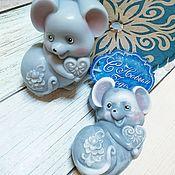 Мыло ручной работы. Ярмарка Мастеров - ручная работа Мыло: мышка. мыло крыск. символ нового года. Handmade.
