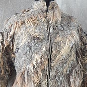 """Одежда ручной работы. Ярмарка Мастеров - ручная работа Авторское валяное пальто-""""кокон """"- """"Горная река"""" (бохо-стиль). Handmade."""