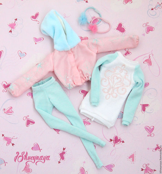 """Одежда для кукол ручной работы. Ярмарка Мастеров - ручная работа. Купить Комплект одежды для Барби """"Романтик"""". Handmade. Бледно-розовый"""