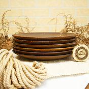 Посуда handmade. Livemaster - original item Wooden plate Set (6 PCs) 25 100%#44. Handmade.
