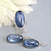 Украшения handmade. Livemaster - original item Set with kyanite. Silver. Handmade.