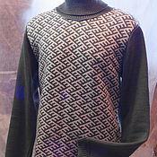 Одежда ручной работы. Ярмарка Мастеров - ручная работа Джемпер мужской с защитным орнаментом. Handmade.